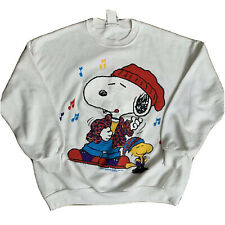 New Men/'s S-M The Peanuts Snoopy Sunglasses Dog Joe Cool Shades Hoodie Sweater