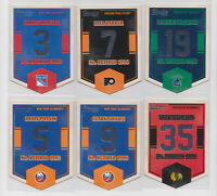 2012-13 Classics Signature Banner Numbers 6 Different Card Insert Lot NHL Hockey