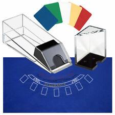 6 Deck Blackjack Dealing Shoe/Discard Holder Tray/Layout Felt/Cut Card Combo Set