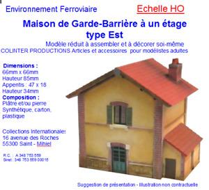 Colinter Productions - maquette HO - Maison du garde-barrière à 1 étage type Est
