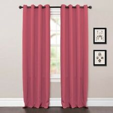 "Lush Decor Ever Dark Jamel Blackout Panels Pink Pair Each: 52""W x 63""L"