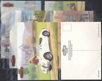 WILLS CASTELLA-FULL SET- BRITAINS MOTORING HISTORY (P6 CARDS) - CARS - EXC+++