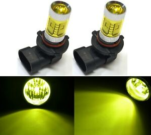LED 30W 9005 HB3 Yellow 3000K Two Bulb Head Light High Beam Replace Xenon Color