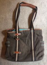 Large Women's GAP Canvas Tote Bag Purse Brown GUC Strong Sturdy