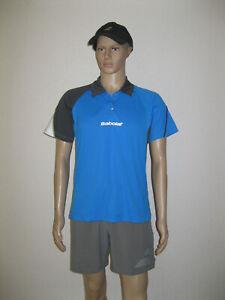 Babolat Polo Halfzip Perf Men Blau mit Druckknöpfen