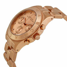 Mark Jacobs Rose Gold Elegant Rose Gold Blade Chronograph Watch Time MBM3102