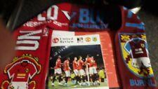 Manchester United v Burnley programme teamsheet Matchday scarf 22.01.20