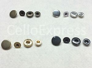 Pop Studs Heavy Duty Snap Fasteners Press Spring Poppers Buttons Crafts Findings