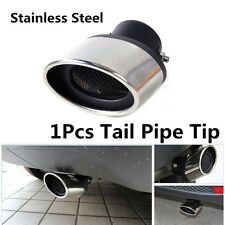 Fashionable 63MM Stainless Steel Car Exhaust Muffler Tip End DIY Trim Tail Pipe