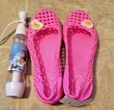 Lot of 2, Cute Pink Rubber Shoes Euro 37 and Personal Water Mist