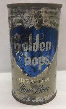 Golden hops 12 ounce flat top beer can