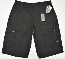 Buffalo David Bitton Shorts Men's Size 30 HEVART Cotton Cargo Shorts Black N868