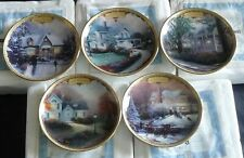 Set of 5 Thomas Kinkade's Simpler Times Celebrations Collector Plates Mib