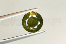 Yellow Green Tourmaline Round 3.38ct 9mm Loose Natural Gemstone Afghanistan