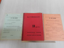 MANUALE ORIGINALE 1966 ALFA ROMEO GIULIA GT JUNIOR + ALLEGATI '69 - '71