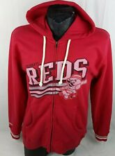 Mitchell & Ness Mens Cincinnati Reds Full Zip Hoodie Jacket XL Red Stockings