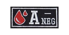 A-neg sangre grupo Patch Patch badge blood type Biker rocker perchas imagen sotana