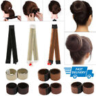 Women Girl Magic Hair Bun Snap Styling Donut Former French Twist Band Maker UK