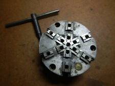 BISON 6 1/4 DIAMETER 6 JAW SET-TRU METAL LATHE CHUCK