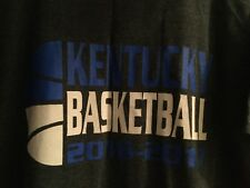 Kentucky Wildcats Basketball 2016-2017 Charcoal Gray T-Shirt Size Xl