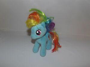 TY My Little Pony SPARKLE RAINBOW DASH Plush Glitter Hair Pegasus Lightning Bolt