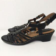 SoftSpots Havana black leather Sandal 8.5 NEW