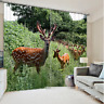 3D Forest Deer 134 Blockout Photo Curtain Printing Curtains Drapes Fabric Window