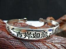 Tibet Tibetan Silver Bangle Cuff MANTRA Bracelet Feng Shui Jewelry Woman LUCKY
