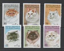 Thematic Stamps Animals - SOMALI REP 1997 CATS 6v mint