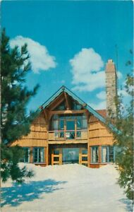 Gaylord Michigan Main Lodge Otsego Ski Club Postcard Freeman Studios 21-4148