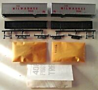 Athearn HO Milwaukee Road 40 Ft Trailer Box of Two 5167 New