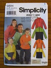 SIMPLICITY PATTERN - 9894 LADIES MEN'S TEEN CHILD TOP JUMPER XS S M L XL UNCUT