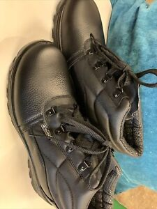 Chukka Safety Work Boots Shoes Black Leather Steel Toe Cap Mens Click Footwear
