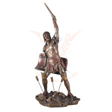 Roman Gladiator With Sword & Shield Statue,Cold Cast Bronze ,Great Details.