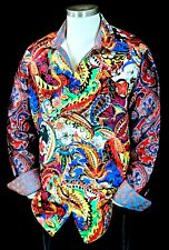 "Robert Graham ""The Conway"" NWT $498 Limited Edition Silk Paisley Shirt Large"