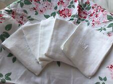 "Antique French Cotton Linen Cloth Napkin Damask Dish Hand Towel Metis 24""X 21 FD"