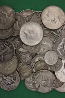 MAKE OFFER 1 TROY Pound 90/% Silver U.S Junk Coins 12 Halves Included Bullion