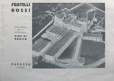 1941 PUBBLICITA FOTO DITTA FRATELLI ROSSI RIPE DI RADICA BARASSO VARESE