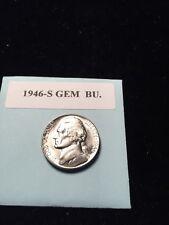 """1946-S Jefferson Nickel Gem BU. With Mint """"Luster"""""""