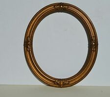 BEAUTIFUL ANTIQUE VICTORIAN GOLD PLASTER & WOOD ROUND PICTURE FRAME