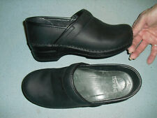 Dansko Womens Oiled Leather Clogs Shoes Size 36 Black