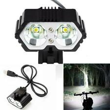 6000LM 2 X XM-L T6 LED USB Waterproof Lamp Bike Bicycle Headlight AU Stock