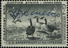 """Rw#25 1958 $3 """"Canada Geese"""" Duck Stamp Used-Vf"""