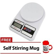 7KG/1G LCD Electronic Kitchen Weighing Scale with Self Stirring Mug (Red)