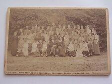 Cabinet Card Good Templar & Temperance Orphanage Sunbury on Thames 1900