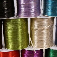 """20yards Of 3mm (1/8"""") Edge Gold/Silver Satin Ribbon Rolls Many Colours"""