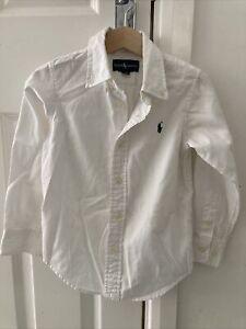 Ralph Lauren Boys White Shirt 4T