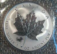 2002 Silver $5 Maple Leaf HORSE Privy .9999 1 oz  MINT SEALED ONLY 25,000 MINTED