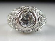 Platinum Diamond Ring Old European Cut SOPHIA D. Vintage Art Deco Style Estate