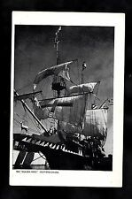 C1950s View of the Replica of the Golden Hind Ship with sails - Southend-on-sea